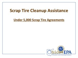 Scrap Tire Cleanup Assistance