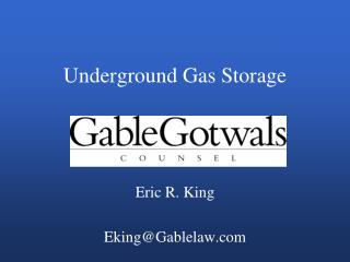 Underground Gas Storage
