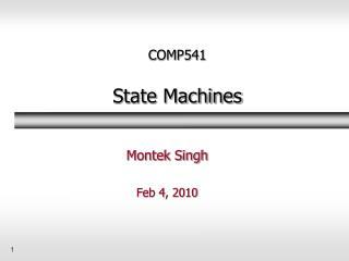 COMP541  State Machines