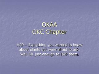 OKAA OKC Chapter