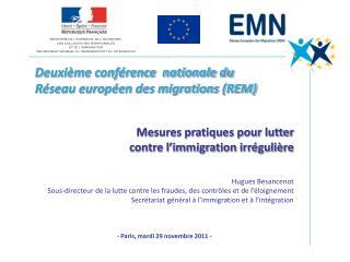 Deuxi�me conf�rence  nationale du  R�seau europ�en des migrations (REM)