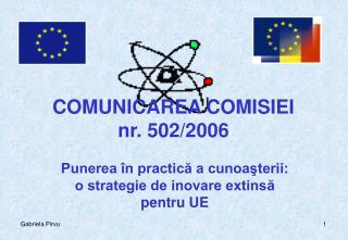 COMUNICAREA COMISIEI  nr. 502/2006