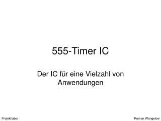 555-Timer IC