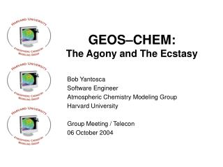GEOS–CHEM:  The Agony and The Ecstasy