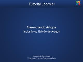 Tutorial Joomla!