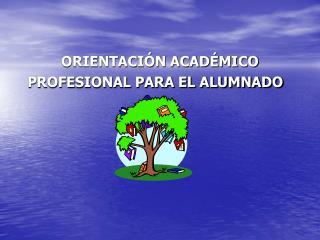 ORIENTACIÓN ACADÉMICO PROFESIONAL PARA EL ALUMNADO