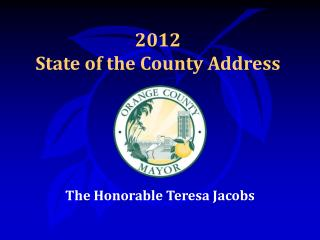 2012  State of the County Address