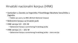Hrvatski nacionalni korpus (HNK)