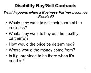 What happens when a Business Partner becomes disabled?