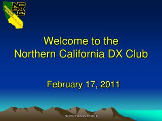 Welcome to the Northern California DX Club