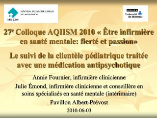 Annie Fournier, infirmi�re clinicienne