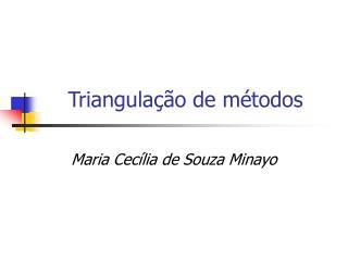 Triangulação de métodos