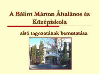 A Bálint Márton Általános és Középiskola
