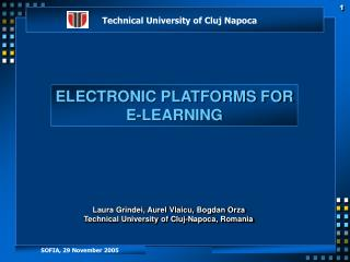 ELECTRONIC PLATFORMS FOR E-LEARNING