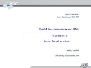 Foundations of  Model Transformation