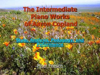 The Intermediate  Piano Works  of Aaron Copland