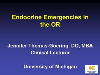 Endocrine Emergencies in the OR