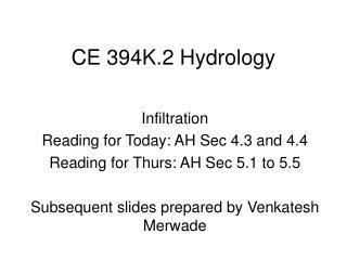 CE 394K.2 Hydrology