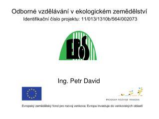 Ing. Petr David