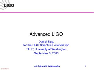Advanced LIGO