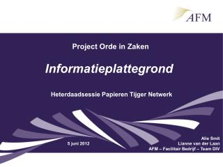 Project Orde in Zaken