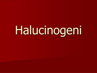 Halucinogeni
