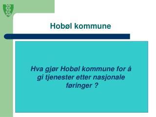 Hob�l kommune