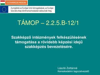 TÁMOP – 2.2.5.B-12/1