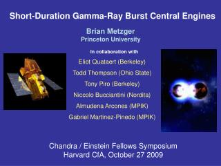 Short-Duration Gamma-Ray Burst Central Engines