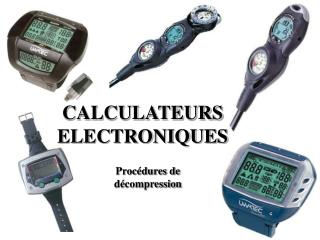 CALCULATEURS ELECTRONIQUES