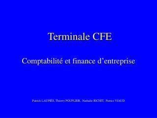 Terminale CFE