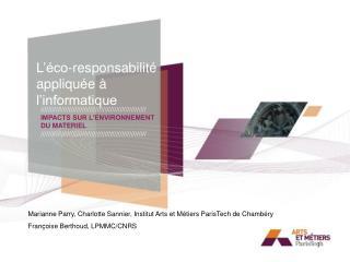 L'éco-responsabilité appliquée à l'informatique