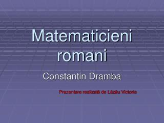 Matematicieni romani