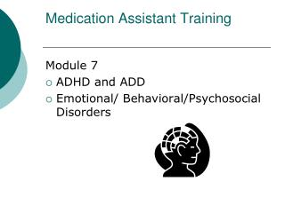Medication Assistant Training