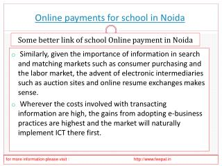 The best hub of online payment for school in Noida