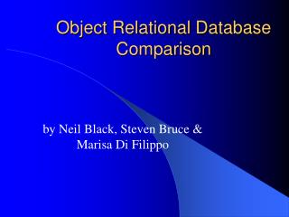 Object Relational Database Comparison