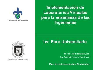 Implementaci�n de Laboratorios Virtuales para la ense�anza de las Ingenier�as