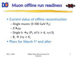 Muon offline run readiness