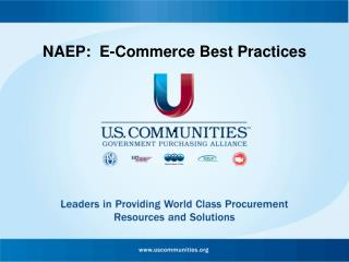 NAEP:  E-Commerce Best Practices
