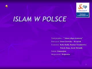ISLAM W POLSCE