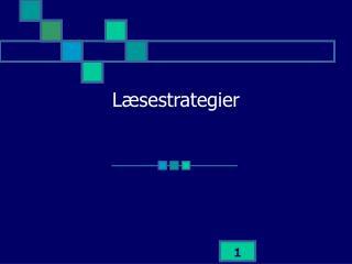 L�sestrategier