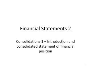 Financial Statements 2