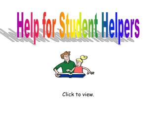 Help for Student Helpers