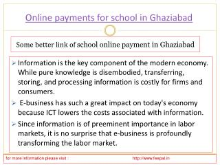 Search best sites if online payment for school in Ghaziabad
