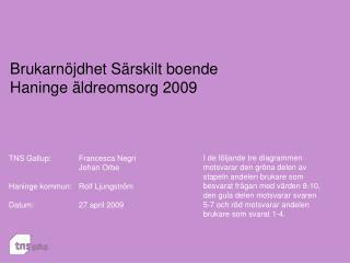 Brukarnöjdhet Särskilt boende  Haninge äldreomsorg 2009