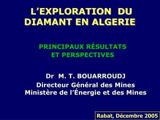 L'EXPLORATION  DU DIAMANT EN ALGERIE