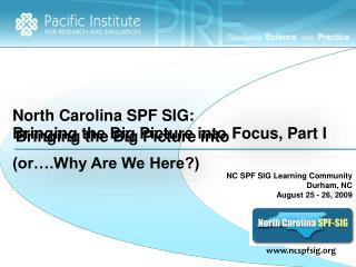North Carolina SPF SIG:
