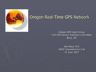 Oregon Real-Time GPS Network