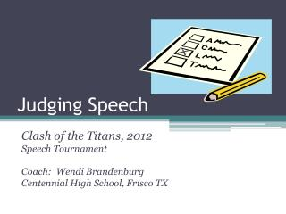 Judging Speech