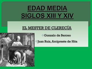 EDAD MEDIA SIGLOS XIII Y XIV